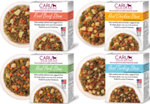 Caru Stews are available in Beef, Chicken, Turkey and Pork