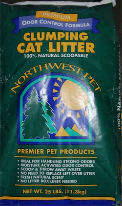 25 lb bag of NW Pet Odor Control litter