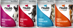 Nulo's canned food offer grain and carrageenan free formulas with US sourced ingredients.