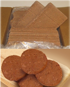 Patties or bars are good for larger raw pet food meals