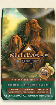The new grain-free Pinnacle Chicken bag