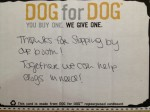 Thank You Card form Dog for Dog